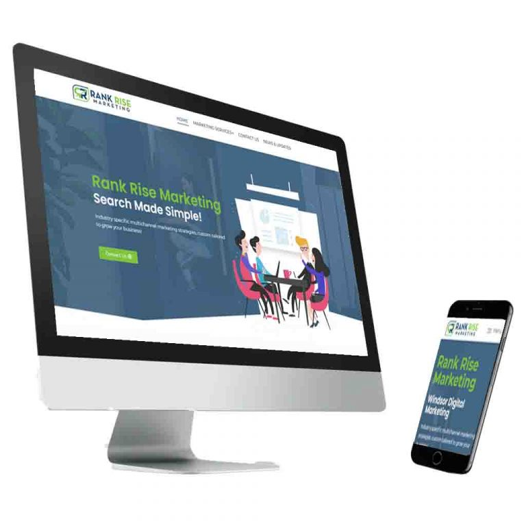 rank rise marketing on a computer and phone
