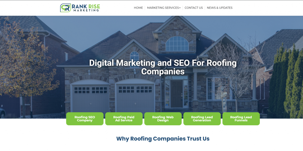Roofing Landing Page Designs