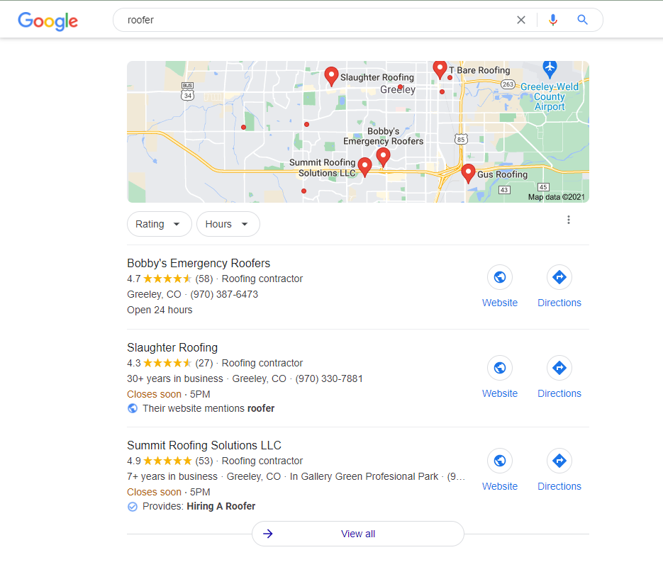 Roofing Marketing Agency Google My Business Optimization