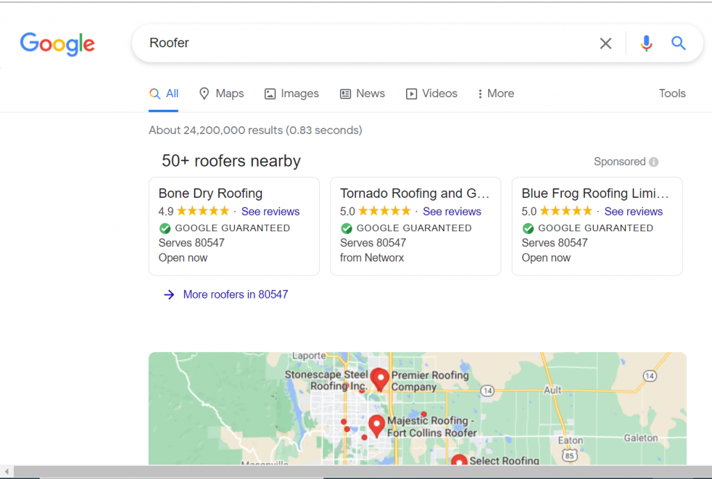 Roofing Pay Per Click Marketing Agency