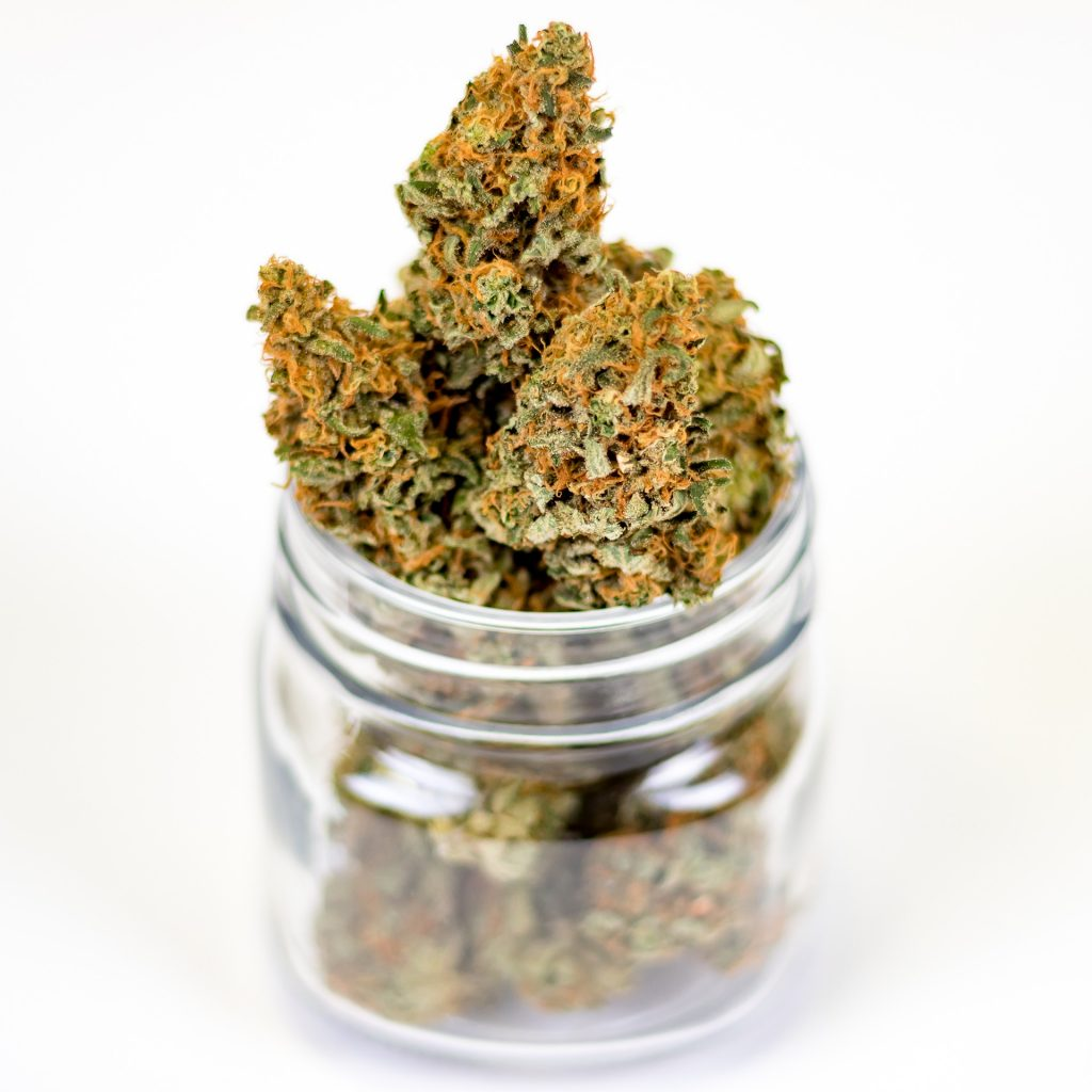 marketing for the cannabis industry inside a clear jar