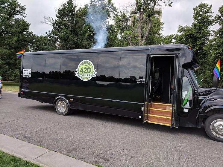 cannabis tour bus