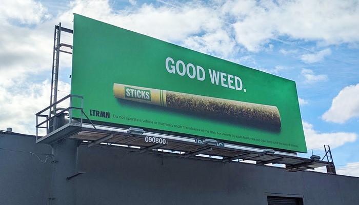 marijuana dispensary billboard